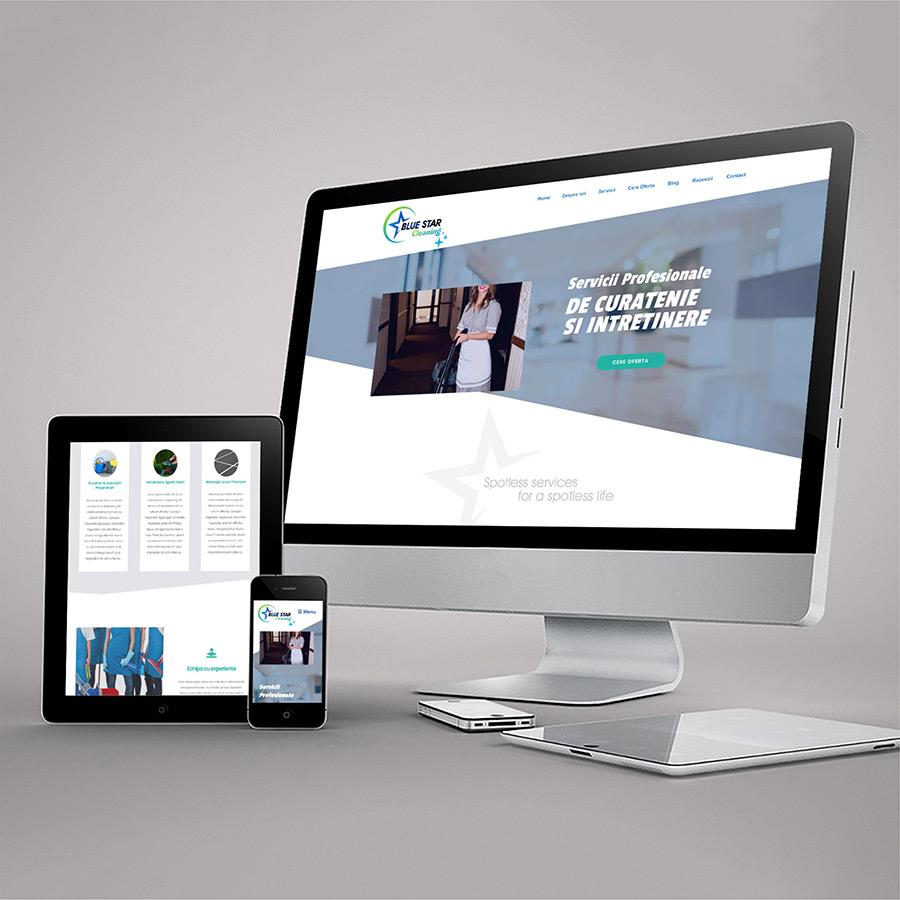 Site de Prezentare Responsive - www.blueastarcleaning.ro