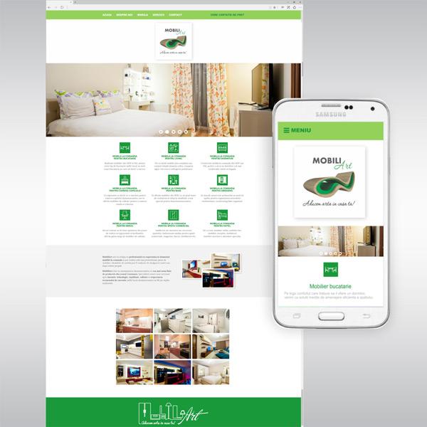Website de Prezentare Responsive - www.mobiliart.ro