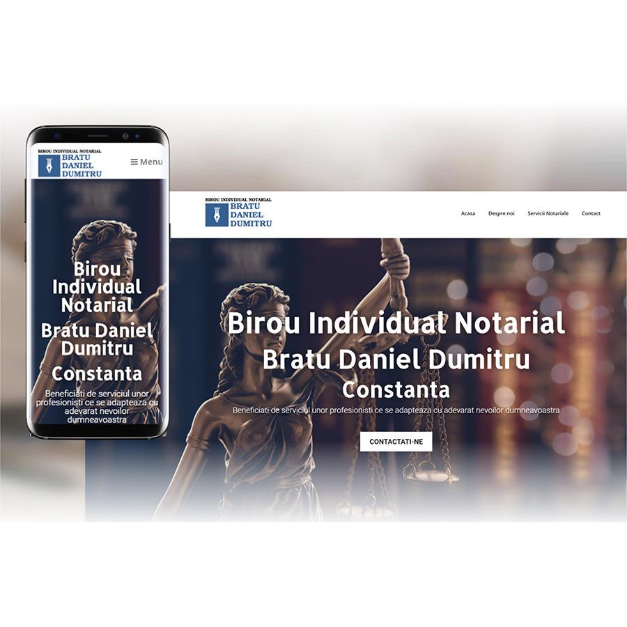 Website de prezentare - www.notarbratudaniel.ro
