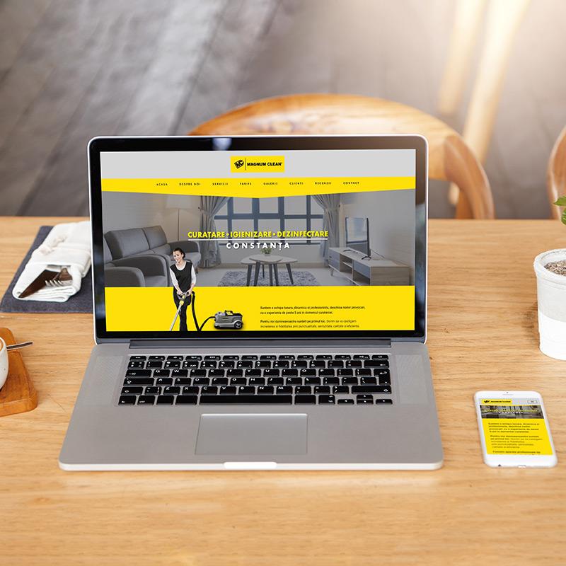 Web Design Responsive - www.magnumclean.ro