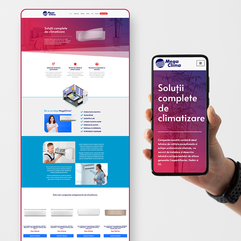 Web Design Responsive - www.megaclima.ro